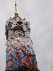 The well known clock tower in Brighton gets a make over for washing days - North Street