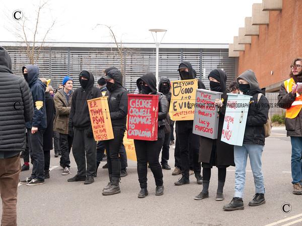 Sussex University Demonstration Against Cuts
