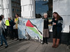 Anti-Israeli settlement protestors outside the Ecosystem store in Western Road Brighton.