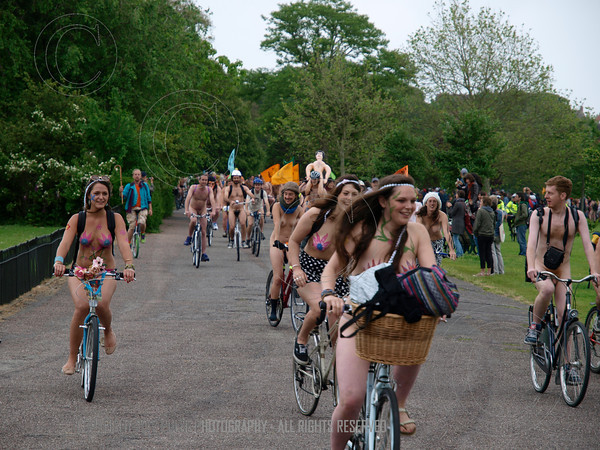 Naked Bike Ride - Brighton