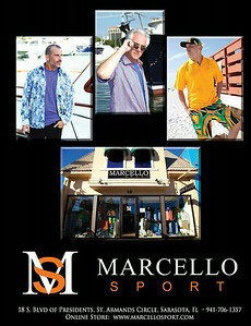 Top (L & Mid) advertising photos by InstudioEphoto.com for Marcello Sport featured in Family Beautiful Magazine - Summer 2014