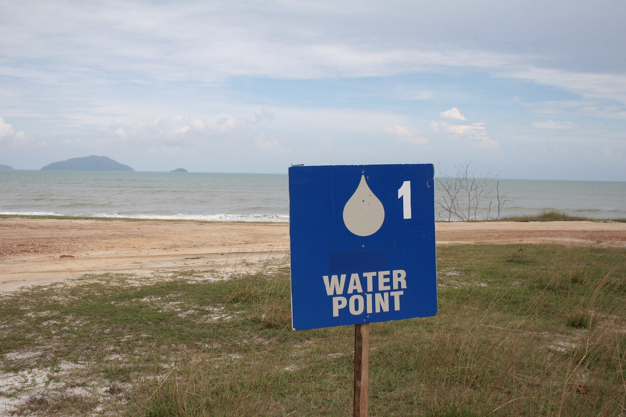 21.  Water point over South China Sea...