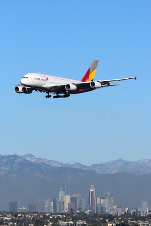 Asiana Airbus A380-800 over Los Angeles (Michael B. Ing). Image: 944830.