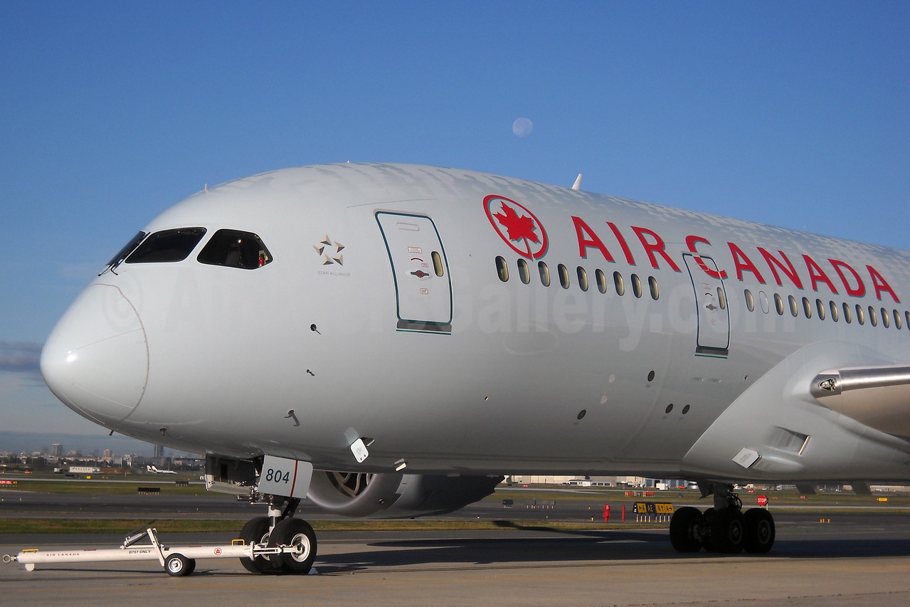 "Air Canada's fleet number ""804"" up-close"