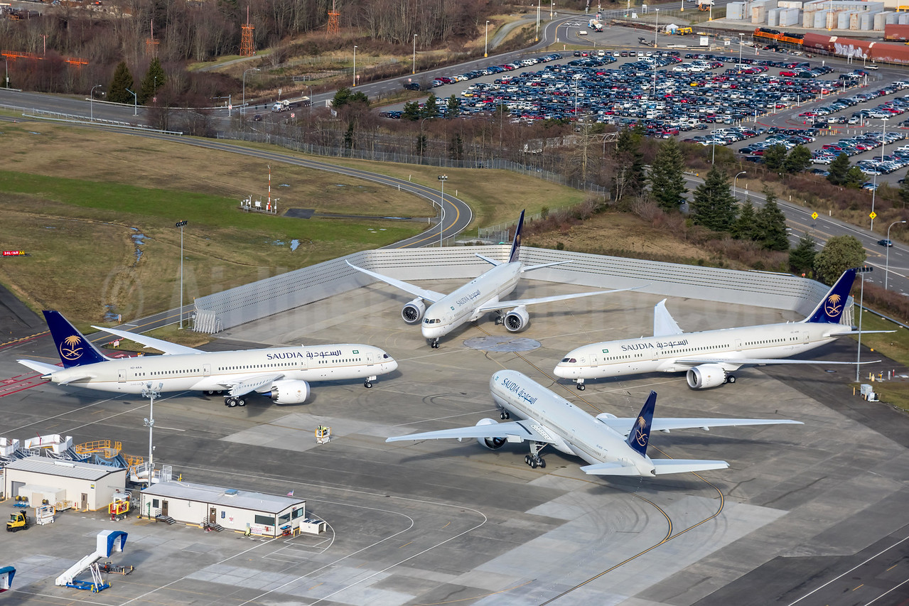 Saudia's first three Boeing 787-9 Dreamliners + 777-300