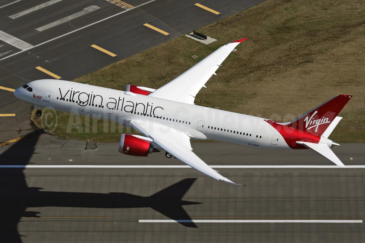 Virgin Atlantic Airways Boeing 787-9 Dreamliner G-VZIG (msn 37969) PAE (Brandon Farris). Image: 926465.