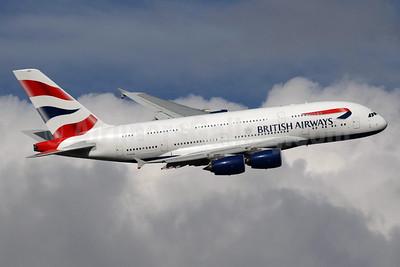 British Airways Airbus A380-841 G-XLEG (msn 161) LHR (SPA). Image: 935111.