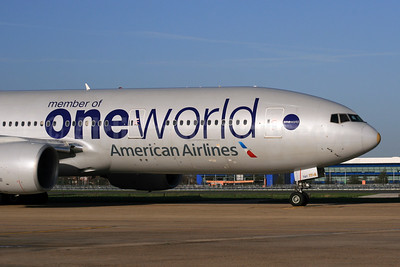 American Airlines Boeing 777-223 ER N791AN (msn 30254) (Oneworld) LHR. Image: 931093.
