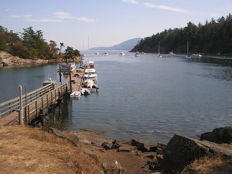 Fossil Bay on Sucia Island ... looking south ...