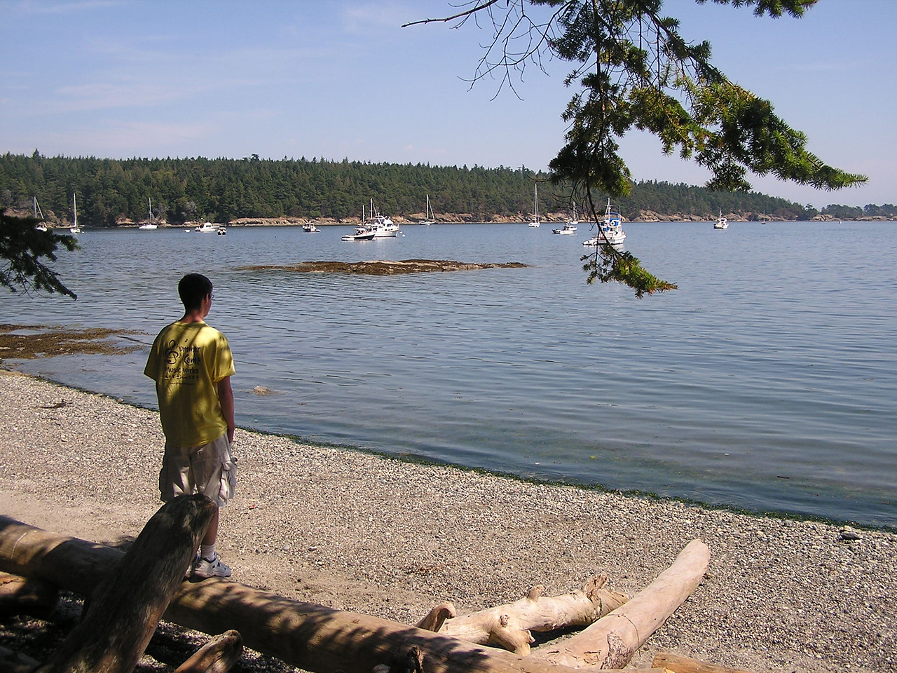 Echo Bay on Sucia Island (looking southeast).