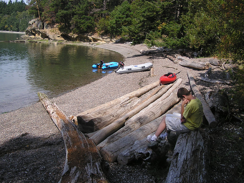 The beach on Shallow Bay on the north side of Sucia Island.