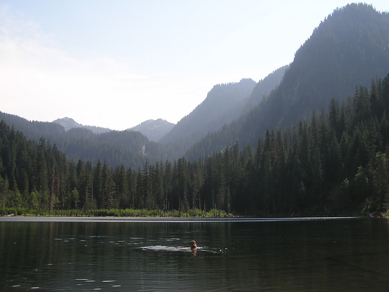 It was a hot August day in 2004 that we hiked to Trout Lake in Cascades ...