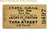 Dublin, Wicklow and Wexford Railway (City of Dublin Junction Railway) third class single ticket from Amiens St. Junction to Tara Street dated 18.SE.07.