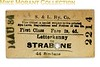 Strabane & Letterkenney Railway 1st class single ticket from Letterkenney to Strabane dated August 14th, 1934.<br> [<i>Mike Morant collection</i>