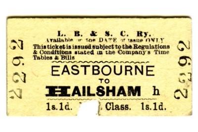 LBSCR 1st class single tickets