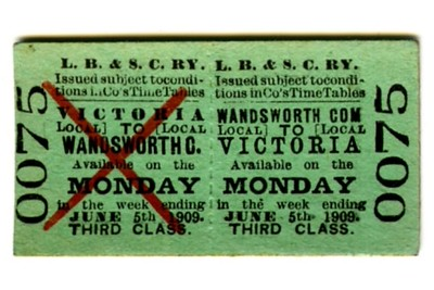LBSCR Edmondson tickets