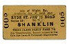Isle of Wight Railway third class PARLY single ticket from Ryde St. John's Road to Shanklin date May 14th, 1920.<br> [<i>Mike Morant collection</i>]