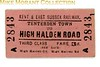 Kent and east Sussex  Railway third class single ticket from Tenterden Town to High Halden Road dated 1939.<br> [<i>Mike Morant collection</i>]