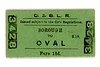 City & South London Railway single ticket from Borough to Oval dated March 18th, 1908.<br> [<i>Mike Morant collection</i>]