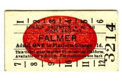 Edmondson_ticket_LBSCR_London_Brighton_and_South_Coast_Railway_platform_Falmer_1