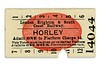 LBSCR red blob platform ticket from Horley issued on 3/1/1916.