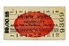 Southern Railway T1 red blob platform ticket from Norbury issued on 29.OC.25.<br> [<i>Mike Morant collection</i>]