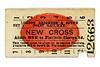 LBSCR 'red blob' platform ticket from New Cross dated 9/5/1915.<br> [<i>Mike Morant collection</i>]