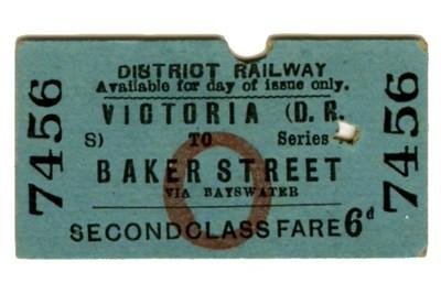 Edmondson_ticket_District_Railway_single_2nd_second_class_Victoria_to_Baker_Street_Via_Bayswater_1
