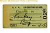 CLC - Cheshire Lines Committee - third class 'blank'  single ticket from CHEADLE to Sankey Bay dated 12.OCT.41.<br> [<i>Mike Morant collection</i>]