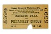 Baker Street & Waterloo Railway single ticket from Regents Park to Piccadilly Circus dated November 19th, 1906.<br> [<i>Mike Morant collection</i>]