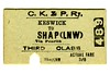 Edmondson_ticket_CKPR_Cockermouth_Keswick_and_Penrith_Railway_single_3rd_third_class_Keswick_to_Shap_1