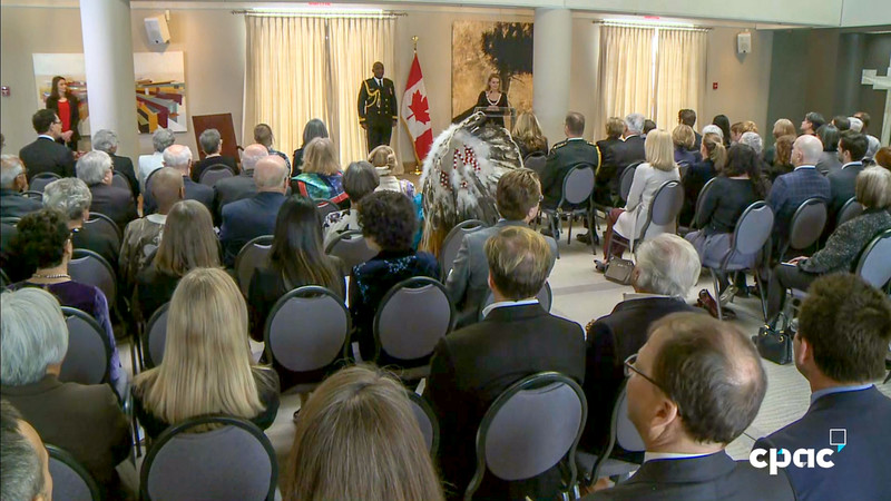 Edmund Metatawabin Order of Canada ceremony Quebec City 2019 February 12