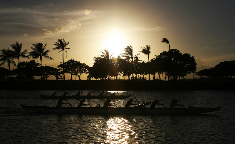 Returning from a yachting trip at Waikiki beach, Hawaii. Right place, right time! 2010