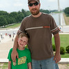 Tim and Kyle on the steps of the Lincoln Memorial looking down the National Mall. Digital, July 2014.
