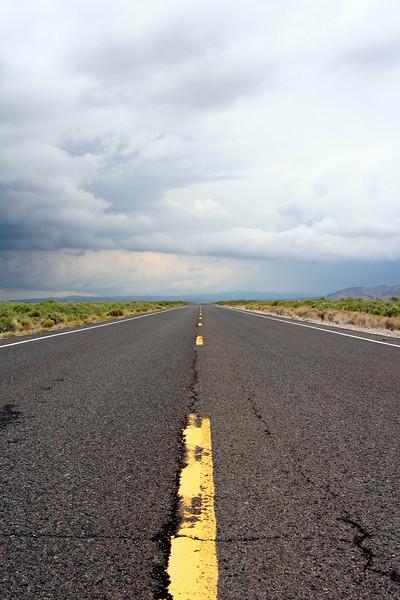 A deserted road in eastern Oregon.