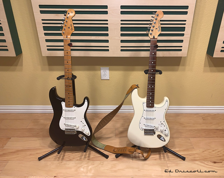 1983 Fender '57 Stratocaster Reissue and Late '90s Roland-Ready Strat 7-9-20