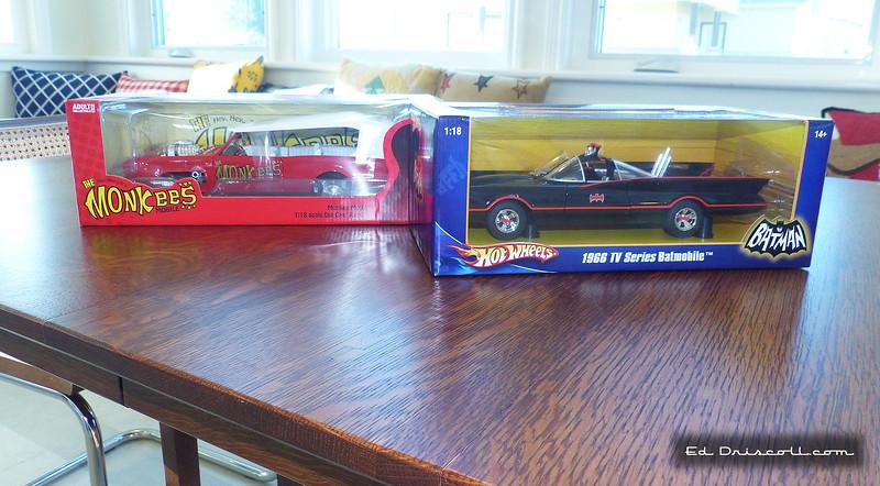 Batmobile and Monkeemobile in 1/18 Scale, 11-25-20.