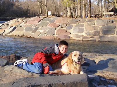 Jason & Buddy at the park