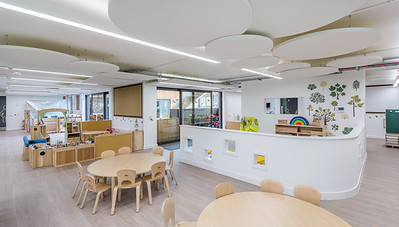 Interior and exterior architectural photography of Bearsden Early Learning Centre by Holmes Miller