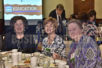 Karen Hitchcock with Ginna Roeding and Pam Clarke from The Doane Stuart School