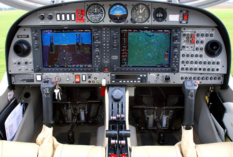 Diamond DA42VI cockpit (as if the Caravan and my RV-6 had a kid...)