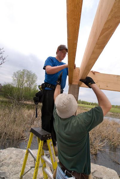 Macoun Marsh Ottawa Ontario outdoor classroom build 07.05