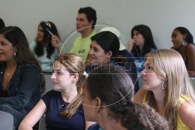 Students and staff at the Anhembi Morumbi University in Sao Paulo, Feb. 1, 2006.
