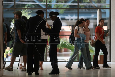 Students and staff at the Anhembi Morumbi University in Sao Paulo, Feb. 1, 2006.
