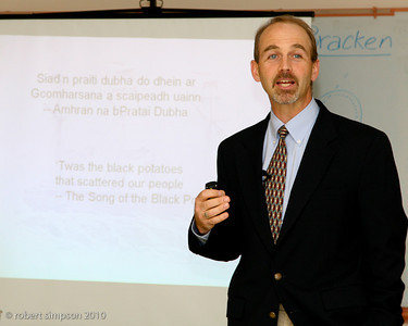 College of the Holy Cross historian, Ed O'Donnell leads a fall seminar on Making Sense of the Irish Famine.