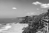 <h3>1000 Step Beach</h3> <ul> <li>No filters on camera <li>Photoshop work     <ul>     <li>Levels on sky ; each channel done separately; layer masked to just sky     <li>Hue Saturation layer; layer masked to just sky     <li>Black and White layer     </ul> </ul>