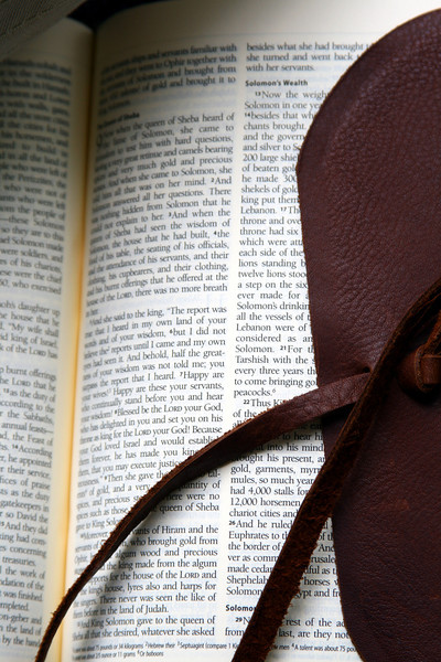 And old leather-bound bible.