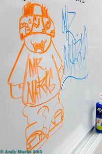 """Fernando's sketch (with Mr. Affolter's orange marker). I like it's """"lifer"""" look."""