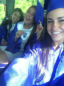 Sienna McGinnis travels with classmates to their graduation from Unionville High School. #ChescoGrads14