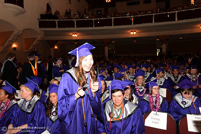 Inspire School of the Arts and Sciences graduation Wednesday, June 1, 2016, at Laxson Auditorium in Chico, California. (Dan Reidel -- Enterprise-Record)